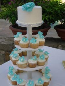Cupcakes blue flower