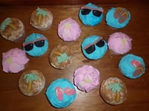 fun beach cupcakes