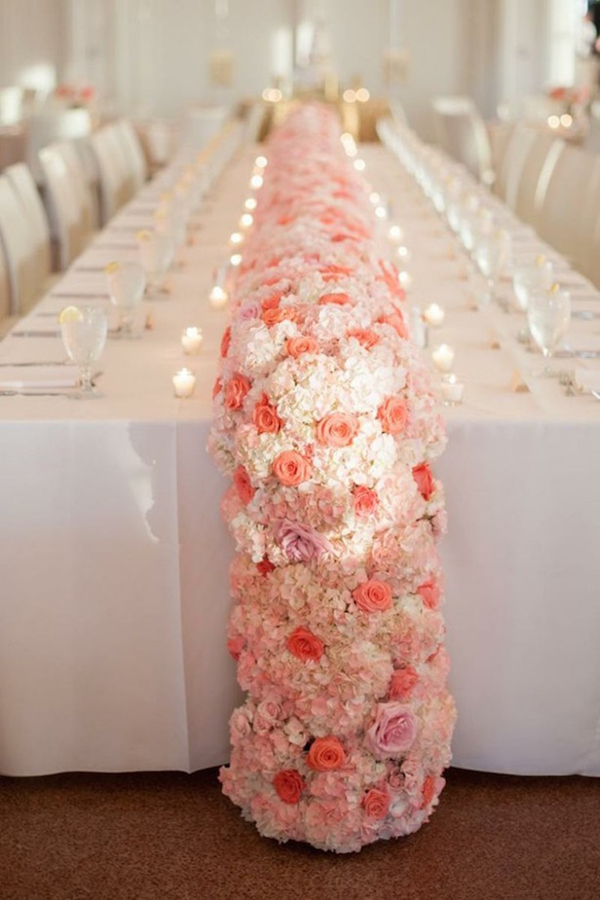 January 19 2016 600 × 900 Bridal ... & elegant-pink-flower-table-garland-runners-for-wedding-centerpiece ...